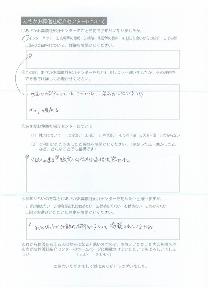 センターへの口コミ、2012-04-03